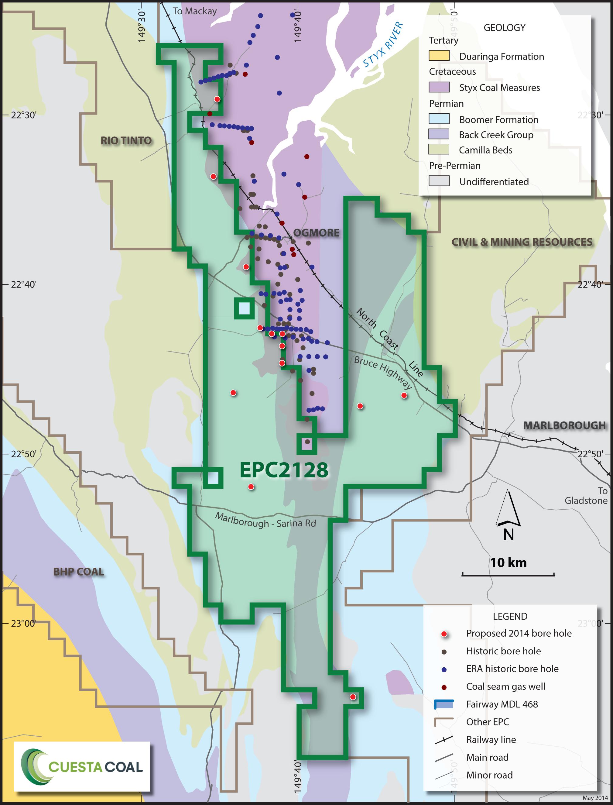 Cuesta Coal Callide Geology Map